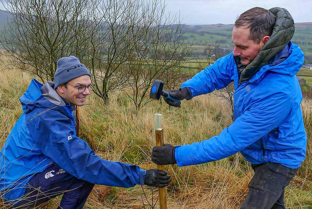 Directors Jamie Atkinson & Chris Gilbertson tree planting