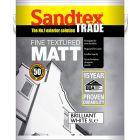 Sandtex Textured Masonry Paint 5 litre - Brilliant White