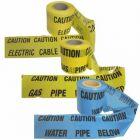 Underground Warning Barrier Tape - Detectable-CAUTION WATER PIPE BELOW (Blue)