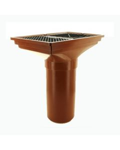 110mm Back Inlet Hopper Inc Grating - DS008