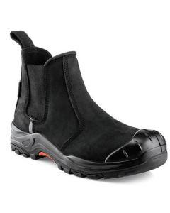 Buckler Nubuckz Safety Dealer Boot Black - NKZ101BK