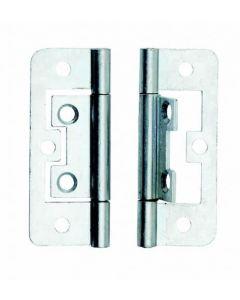 BZP 50mm Flush Hinge (x2) - Dalepax - DX40509