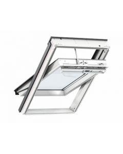 Velux Integra Electric White Polyurethane Centre Pivot Roof Window 78x140cm