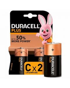 Duracell Plus Type C Battery MN1400 B2 (Pack of 2)