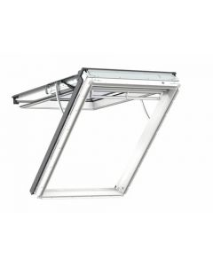 Velux Integra Electric White Polyurethane Top Hung Roof Window 94x140cm