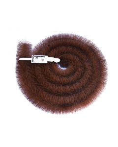 Hedgehog Gutter Brush 4m x 100mm Brown