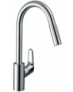 Hansgrohe Focus Single Lever Kitchen Mixer 240 with Pull Out Spray - 31815000