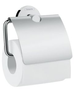 Logis Universal Toilet roll holder with cover manufactured by Hansgrohe