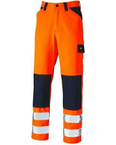 Dickies Everyday Hi Vis Two Tone Trousers Orange - SA247