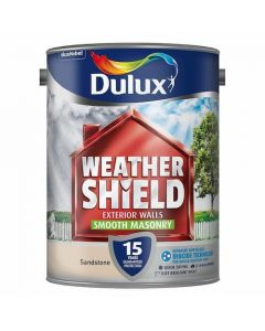Dulux Weathershield Smooth Masonry Paint 5L-Gardenia