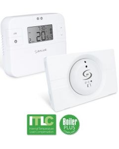 Salus Programmable Room Thermostat with Receiver  - RT510LG+5V+ (Compatible Ideal Logic Gen 2, Vogue & Zanussi Boilers)
