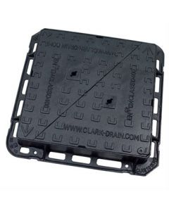 D400 EN124 Ductile Iron Double Triangular Manhole Cover & Frame 600x600x100mm CD 701 KMD