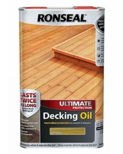 Ronseal Ultimate Protection Decking Oil 5 Litres Natural Cedar