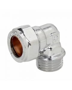 Compression Male Iron Elbow Chrome 15mmx1/2""