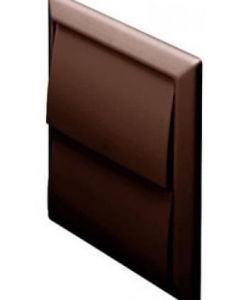 Polypipe Domus Outlet Gravity Flaps Brown 100mm Diameter - 44910B