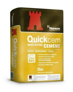 Hanson Quickcem Fast Set Cement 25kg Bag