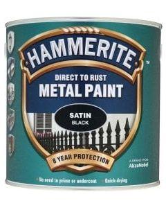 Hammerite Direct to Rust Metal Paint - Satin Finish-250ml-White