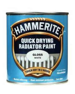Hammerite Quick Drying Radiator Enamel - White-500ml-Satin