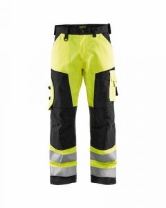 Blaklader Hi-vis Trousers Without Nail Pockets - Black / Yellow