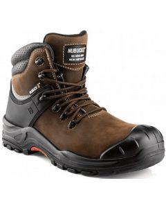 Buckler Nubuckz Safety Lace  Boot Dark Brown - NKZ102BR