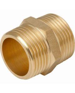 """Brass Hexagon Nipple 3/8"""""""