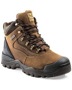 Buckler Waterproof Anti-Scuff Safety Work Boots Brown