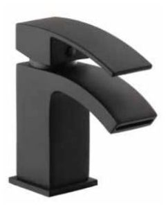 Fiuto Nero Mono Basin Mixer, Black