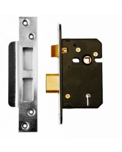 SS 63mm BS3621 5L Mortice Sashlock - (Clam Packed) - DP007144