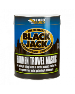 Everbuild 903 Bitumen Trowel Mastic Black 1L
