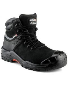Buckler Nubuckz Safety Lace  Boot Black - NKZ102BK