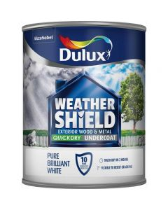 Dulux Weathershield Quick Dry Undercoat Pure Brilliant White 2.5L