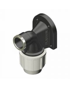 "Plasson Wall Plate Elbow (PP) 25mm x 3/4"" - 7750D20"