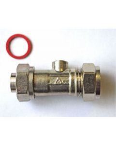 "15mm x 1/2"" Chrome Plated Service Valve Straight"