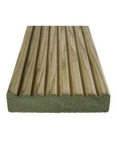 Dual Sided Tanalised Decking 32x125mm Green 4.8m