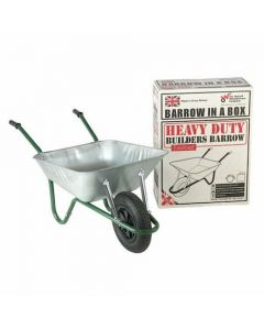 Walsall Heavy Duty Galvanised Barrow in a Box with Puncture Free Tyre 85L - BEASGVPP