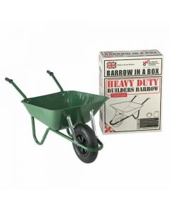 Walsall Heavy Duty Barrow in a Box with Pneumatic Tyre Green 85L - BEASGP