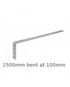 Galvanised Restraint Strap 1500mm Bent 100mm - HD1500B100