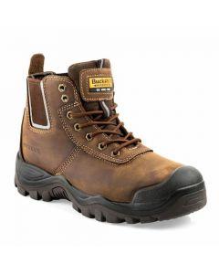 Buckler Anti Scruff Safety Work Boots Brown - BHYB2BR