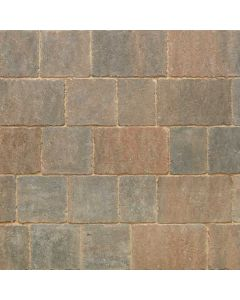 Stonemarket Trident Rumbled Concrete Block Paving-Burnt Ochre-160x160x50mm