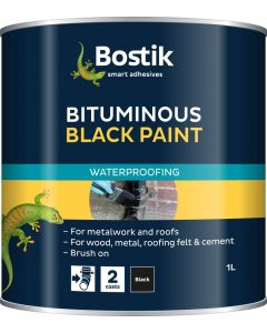 Bostik Cementone Black Bitumen Paint 1L