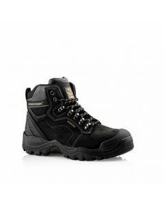 Buckler Waterproof Anti-Scuff Safety Work Boots Black Men's Steel Cap BSH009BK