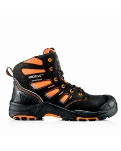 Buckler Buckz Viz Hi Vis Safety Lace Boot Orange - BVIZ2OR