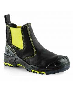 Buckler Buckz Viz Hi Vis Safety Dealer Boot Yellow - BVIZ3YL