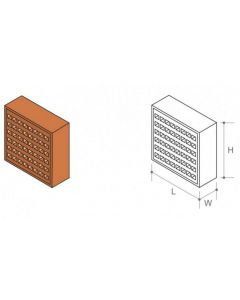 """Air Brick Square Hole (220x145mm) Red 9x6"""""""