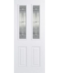 "1981 x 838mm (33"") GRP Malton White 2 Panel Glazed External Door"