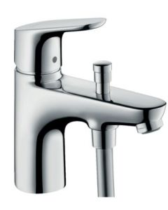 Hansgrohe Focus Monotrou Bath & Shower Mixer with Crometta 85 Hand Shower - 88100455