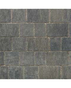 Stonemarket Trident Rumbled Concrete Block Paving-Charcoal-240x160x50mm