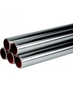 Len Chrome Plated Straight Copper Tube 3m x 22mm