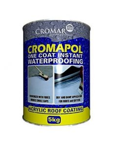 Cromar Cromapol Acrylic Roof Coating Black 5kg