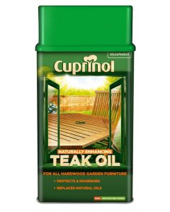 Cuprinol Natural Enhancing Teak Oil-1 Litre